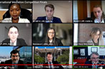 Screenshot of the finals of the CPR International Mediation Competition 2021 over zoom